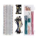 KEYESTUDIO Arduino Project Kit/Breadboard 830+Breadboard Power Supply+65 Pcs Jumper Wires+140 Pcs Pre-formed Jumper Wire Kit