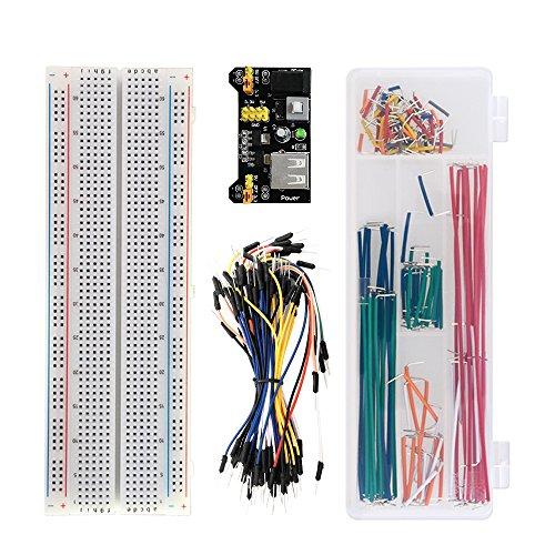 KEYESTUDIO Arduino Project Kit/Breadboard 830+Breadboard Power Supply+65 Pcs Jumper Wires+140 Pcs Pre-formed Jumper Wire Kit by KEYESTUDIO