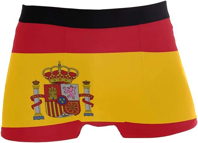ZZKKO - Calzoncillos para hombre, diseño de bandera española: Amazon.es: Ropa y accesorios