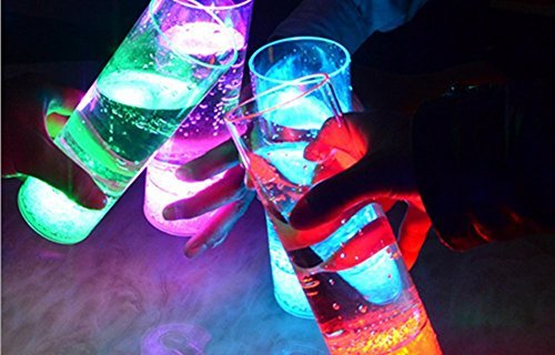 Miyare Colorful Flashing Bar Cup LED Luminous Cup Beer Cup High Brightness LED Colorful Light Cup Charged 4 Pcs