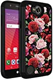 LG Fiesta LTE Case,LG X Charge Case,ANLI [Flowers Design] Drop Protection Hybrid Dual Layer Armor Protective Case Cover for Girls and Women Rose