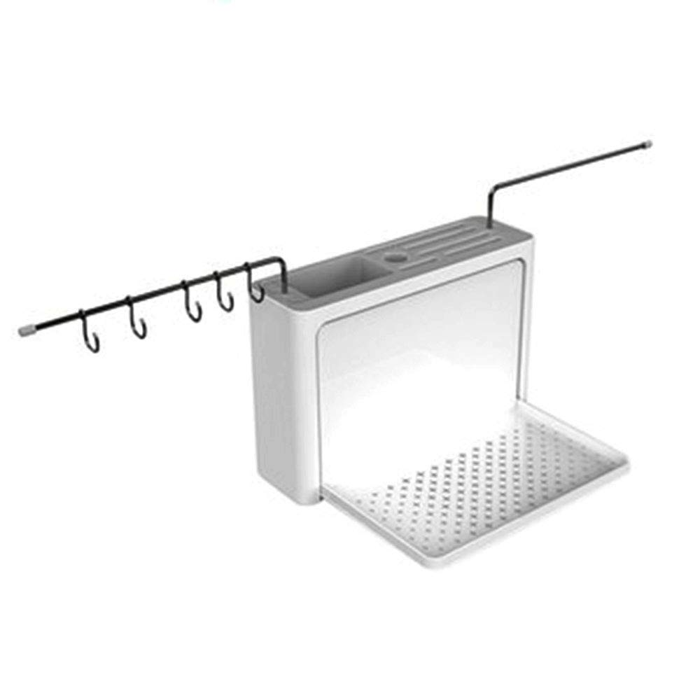 fang zhou Multifunctional Wall-Mounted Kitchen Knife Storage Rack No Punching and Screw Installation, Suitable for Dining Tableware Finishing Home Decoration by fang zhou