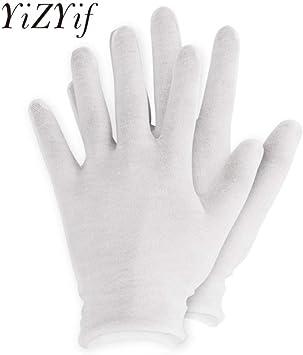 GBSTA Guantes Blancos 12 Pares Guantes de algodón Blanco Guantes Finos elásticos Suaves para hidratación de Manos secas Eczema cosmético Mano SPA Moneda Inspección de Joyas: Amazon.es: Bricolaje y herramientas