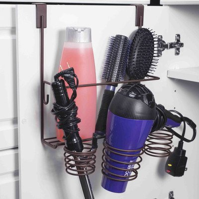 home-basics-over-the-cabinet-hairdryer-holder-organizer-in-bronze