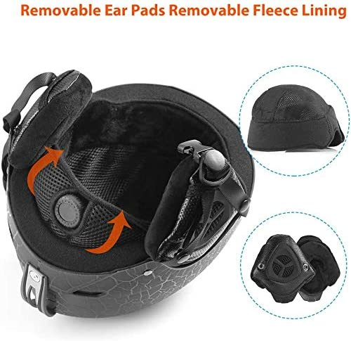 LEDIVO Ski Helmet,Snowboard Helmet - Adjustable Venting, Goggles and Audio Compatible, Removable Liner and Ear Pads, Safety-Certified Snow Sports Helmet for Men, Women & Youth