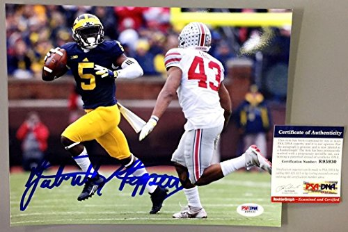 Jabrill Peppers Signed Michigan Wolverines 8x10 Photo