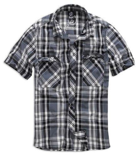 Camicia Brandit bianco Nero blu Roadstar Rosso Uni Black 5aSW1BSn