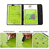 Soccer Magnetic Coaching Board,Magentic Foottball Tactic Strategy Board Coach Strategy Board Foldable Equipment Set with Pen & Magents
