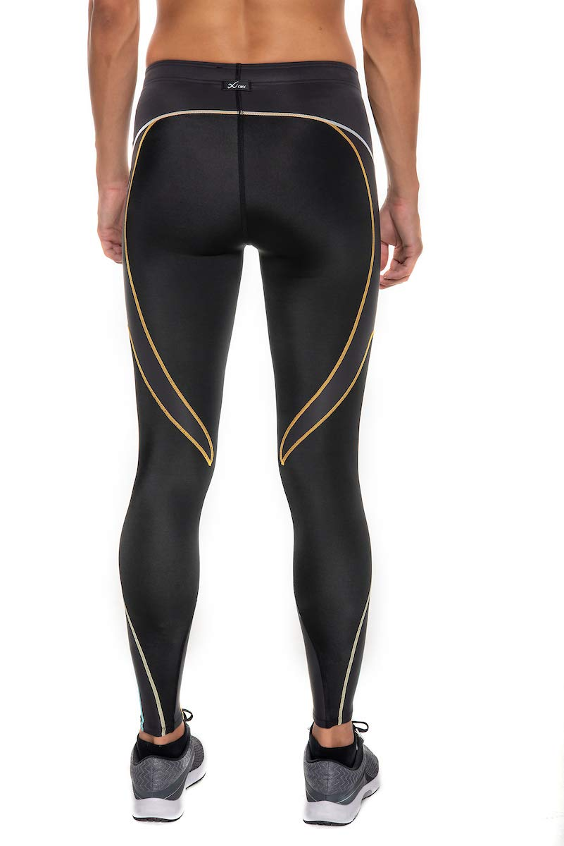 CW-X Women's Stabilyx Joint Support Compression Tight, Black/Bright Rainbow, Small by CW-X (Image #2)