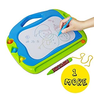 Magnetic Doodle Board with 2 Magnetic Drawing Board Pens Erasable Sketching Pad for Toddlers -Gift for Kids Travel Size