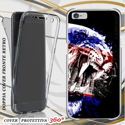CUSTODIA COVER CASE TIGRE CAMBOGIA PER IPHONE 6 FRONT BACK