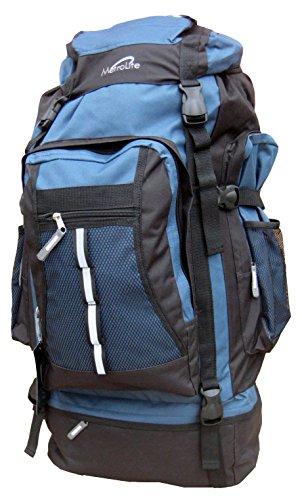 Black Large 80 Camping 80L Travel Blue Litre Backpack Adventure Bag Festival Rucksack Hiking SrqgxSzfw7