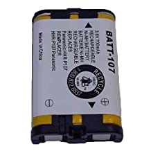 Radio Shack 4300186 Cordless Phone Battery 3.6 Volt, Ni-MH 700mAh - Replacement For PANASONIC HHR-P107 Cordless Phone Battery