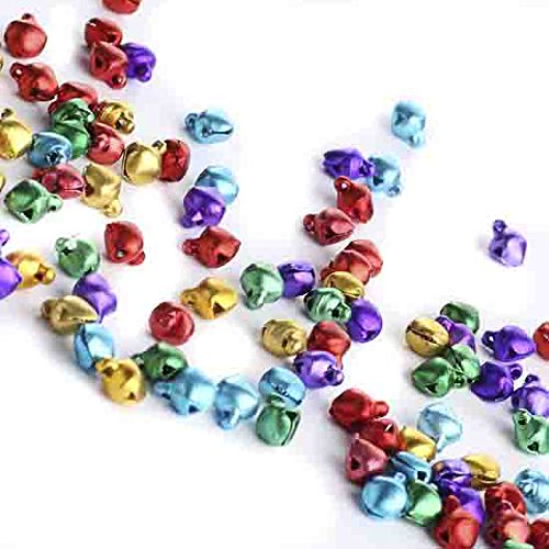 - Holiday Accents Group of 300 Ultra Tiny Assorted Color Aluminum Jingle Bells for Crafting and Embellishing