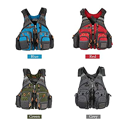 Lixada Mesh Fly Fishing Vest and Backpack Breathable Outdoor Fishing Safety Life Jacket 209lb Bearing Fisherman Utility Vest Swimming Sailing Boating Kayak Floating Safety Device