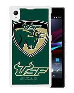 Beautiful Classic NCAA American Athletic Conference AAC Football South Florida Bulls White Case For Sony Xperia Z1