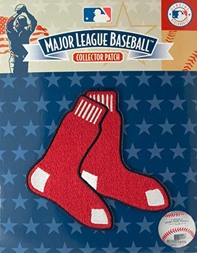 Boston Red Sox Away Jersey - Boston Red Sox Hanging Socks With Blue Border Sleeve Jersey Patch (2014)