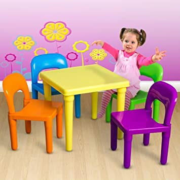 Kid Table And Chair Play Set Toddler Child Toys Activity Furniture  In Outdoor