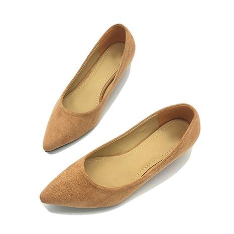 2f84121c70d16 Amazon.com: August Jim Women Flats Shoes,Low Heel Female Casual ...