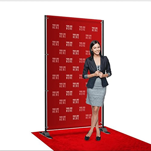 Step and Repeat LA Custom 8' x 4' Selfie Package, Vinyl Banner, Includes Stand and Red Carpet, Made in USA by Step and Repeat LA (Image #3)