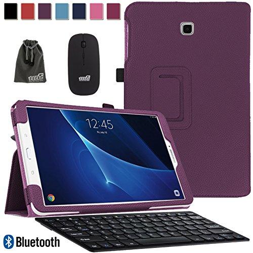 Galaxy Tab A 10.1 Keyboard Case, PU Leather Auto Wake-Up/...