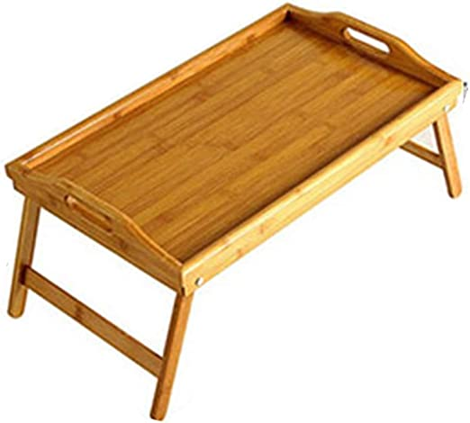 SxsZQ Bandeja de madera maciza, dormitorio portátil mesa cama Mesa ...