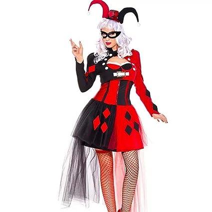 hhalibaba Adulto Harley Quinn Cosplay Disfraz de Payaso ...