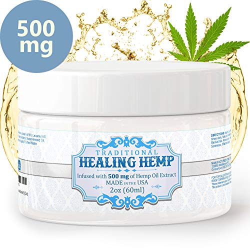 Pure Hemp Cream for Pain Relief - 500mg Relieve Muscle Aches and Soreness, Arthritis and Inflammation Extra Strength Salve with Aloe, Menthol and Vitamin E (2oz)