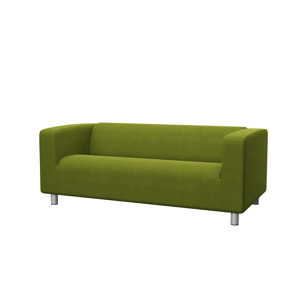 Soferia Replacement Cover for IKEA KLIPPAN 2-seat Sofa, Fabric Elegance Green