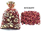 Buycrafty 200g DRIED ROSE PETALS Bag Tea Potpourri Wedding Decor Organic Herbal Craft Car Perfume