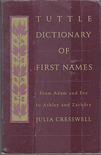 Tuttle Dictionary of First Names: From Adam and Eve to Ashley and Zachary (Tuttle Reference Library)