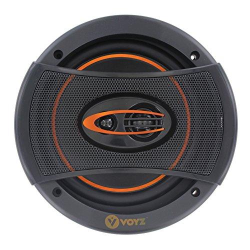VOYZ 750 Watts Car Speakers 6 x 5 Inches 3 Way - High Performance Mid-Bass Mid-Range and Neodymium Tweeter 1 Pair ()