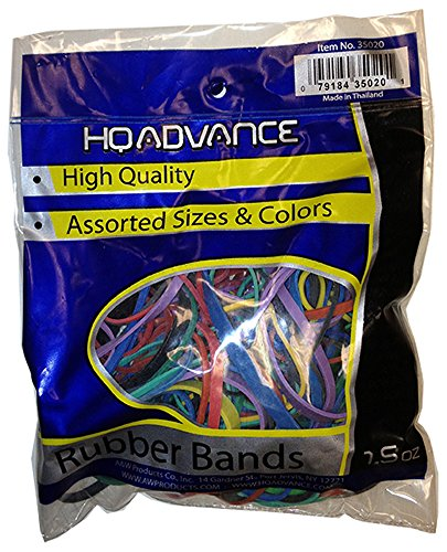 (HQ Advance Products Rubberbands Assorted Color and Size (35020.P))