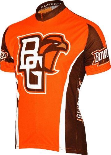 (Adrenaline Promotions NCAA Bowling Green State University Falcons Cycling Jersey, Small, Orange)