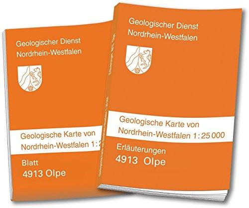 Nordrhein Westfalen Karte.Geologische Karte Von Nordrhein Westfalen 1 25000