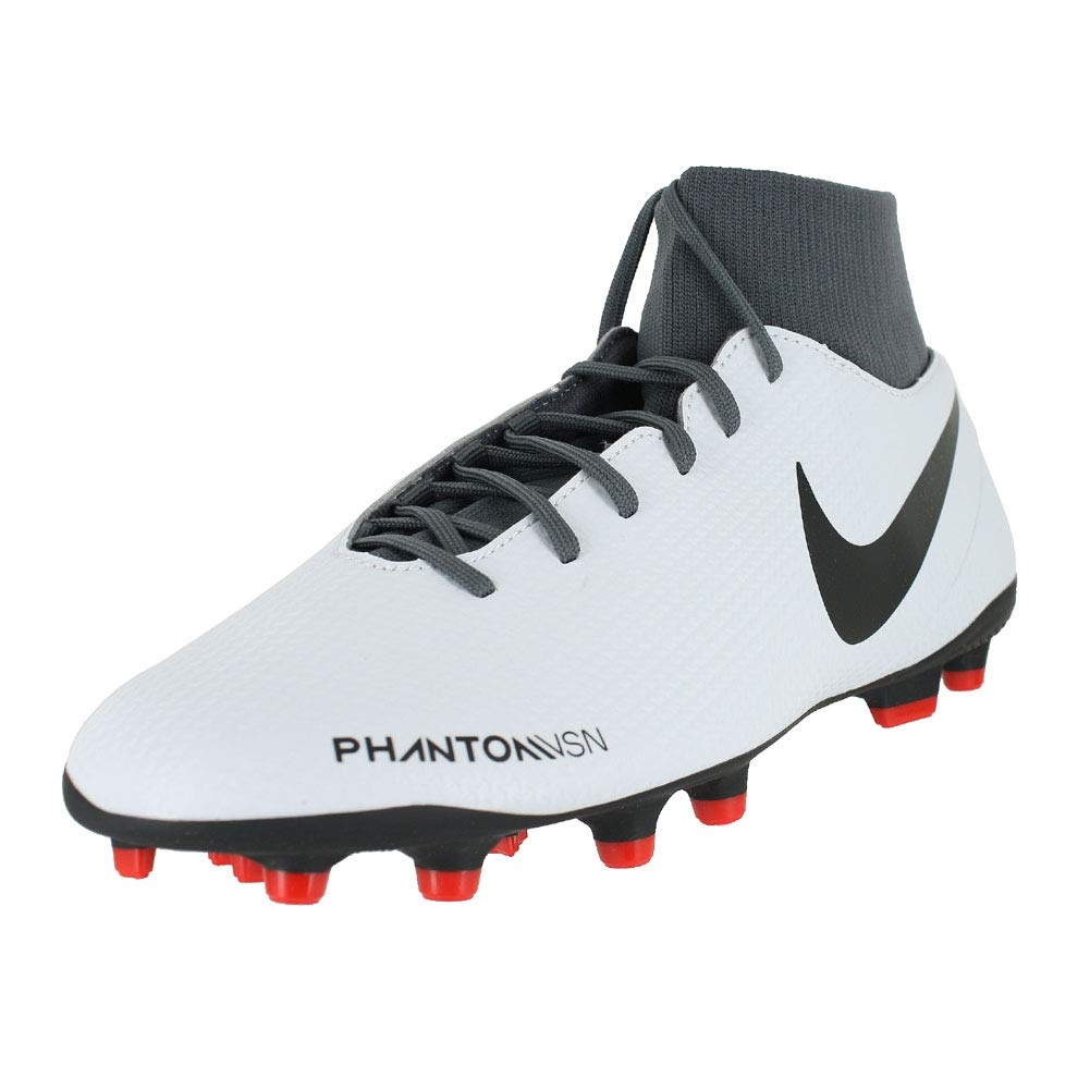 Nike Phantom Vsn Club DF FG/MG, Zapatillas de Fútbol Unisex Adulto 43 EU|Dorado (Pure Platinum/Black/Lt Crimson 060)
