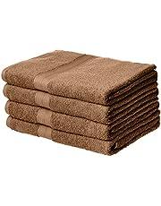 AmazonBasics Fade-Resistant Cotton Bath Towel - Pack of 4, Acorn Brown