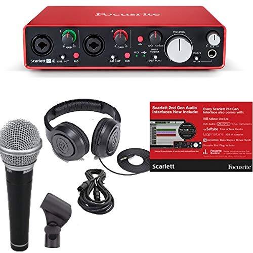 Focusrite 2i4 (2da Gen) paquete de interfaz de audio de g...