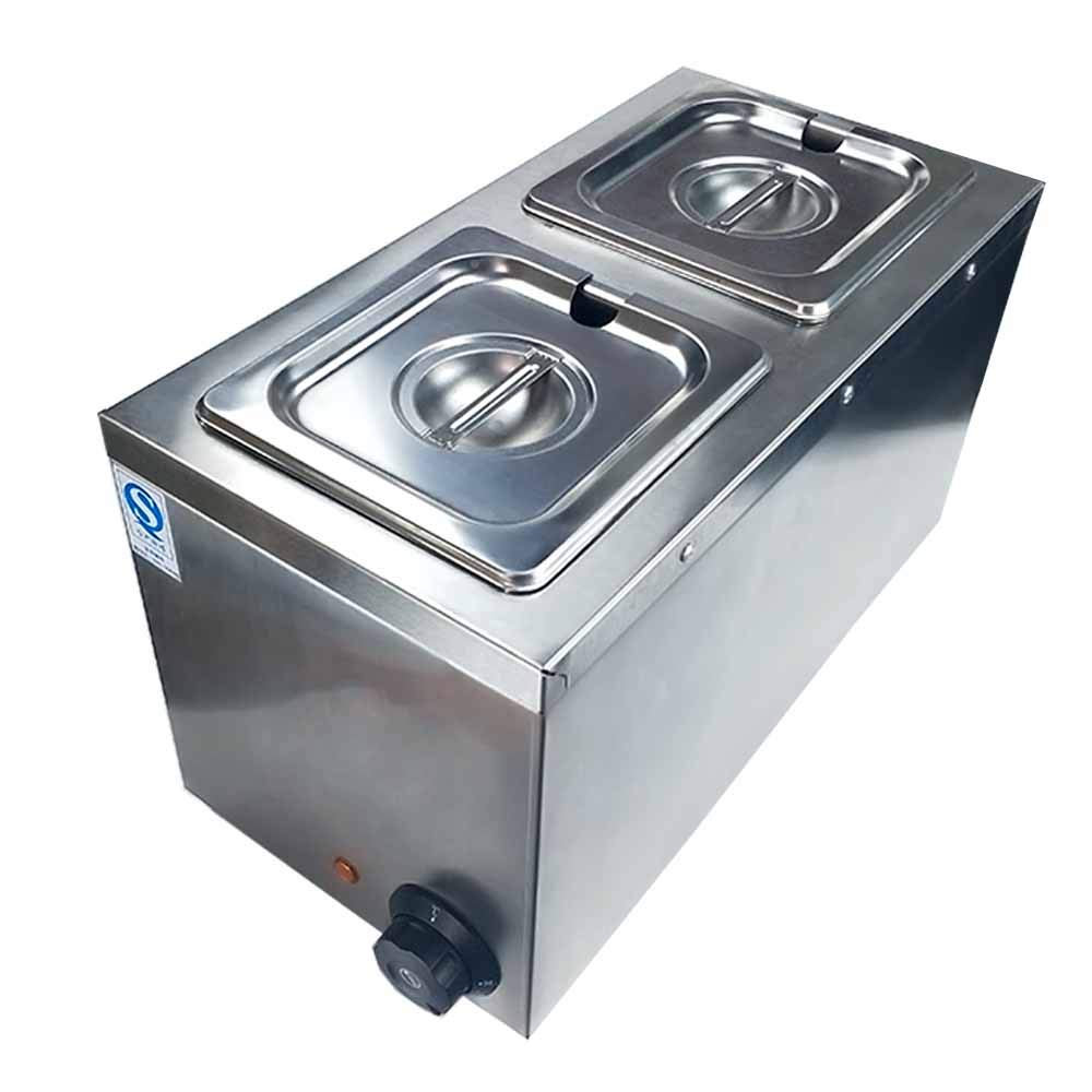 Li Bai Commercial Chocolate Melting Machine Electric Fountain Pot Liquid Warmer 300W 4L Capacity 2 Tanks for Chocolate Candy Butter Cheese Caramel Soup and More by Li Bai (Image #3)