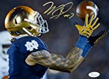 #9: Will Fuller Autographed Notre Dame 8x10 Over The Shoulder Catch Photo-JSA W Auth