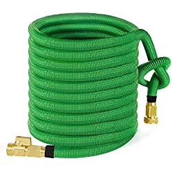 MoonLa 100ft Garden Hose, ALL NEW 2018 Expandable Water Hose with 3/4 Solid Brass Fittings, Extra Strength Fabric - Flexible Expanding Hose with Free Storage Sack by