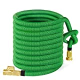 50ft Garden Hose, ALL NEW 2018 Expandable Water Hose with 3/4'' Solid Brass Fittings, Extra Strength Fabric - Flexible Expanding Hose with Free Storage Sack by MoonLa