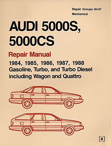 Audi 5000s, 5000cs: Official Factory Repair Manual, 1984, 1985, 1986, 1987, 1988 : Gasoline, Turbo, and Turbo Diesel, Including Wagon and Quattro (2 Volumes) ()