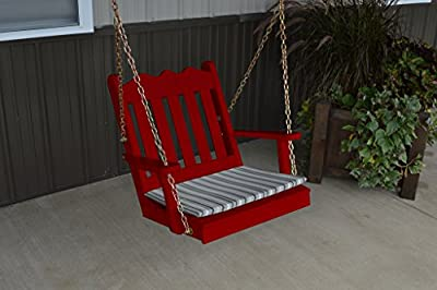 2 Ft Pine Outdoor Royal English Chair Swing Amish Made USA- Tractor Red Paint