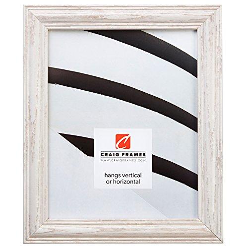 Craig Frames 440WW 24 by 36-Inch Picture Frame, Wood Grain Finish, 1.265-Inch Wide, Whitewash ()