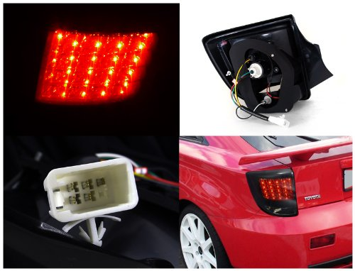 Toyota Celica Smoke Lens Glossy Black Led Tail Rear Lights