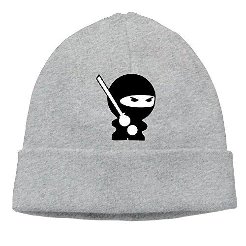 Backwards Costume Hat (Uanjuzn Funny Ninja Men/Women Cool Fashion Hedging Hat Wool Beanies Cap)