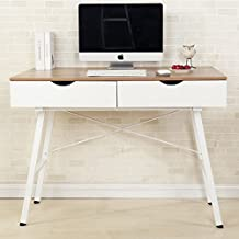 Soges Computer Desk PC Desk Office Desk with Drawer Workstation for Home Office Use Writing Table,868-100-OW-CA