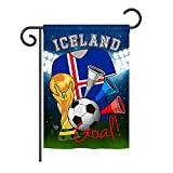 Ornament Collection G192098 World Cup Iceland Soccer Vertical Garden Flag, 13'' x 18.5'', Multicolor