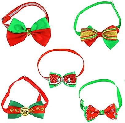 10pcs Navidad Nieve Perro Gato Collar corbata Mascotas lazo Bow ...